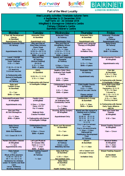 FWCC timetable